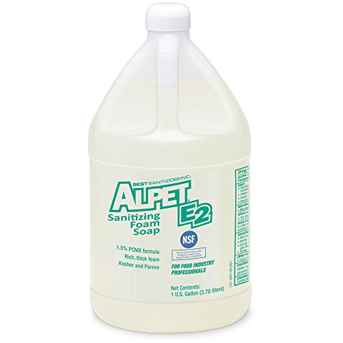 Best Sanitizers SO10025 Alpet E2 Sanitizing Foam Hand Soap, 1 Gallon Bottle (Case of 4)