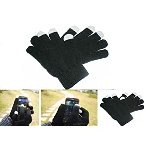 OPT® Brand. 12 Pairs Women Lady Size Solid Black Color Texting Knit Magic Gloves for iPhone iPad GPS Touch Screen Devices Wholesale Lot. Free Shipping From New York. USA Trademark Registered Code: 86522969.