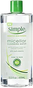 Simple Micellar Cleansing Water 13.5 Ounce (400ml) (6 Pack)