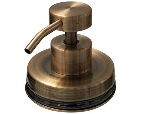 Vintage Copper Soap Pump Dispenser Lid Kit for Regular Mouth Mason Jars (No Jar)