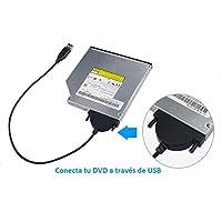 EMMA'S Adaptador USB a SATA para Lector óptico DVD/CD