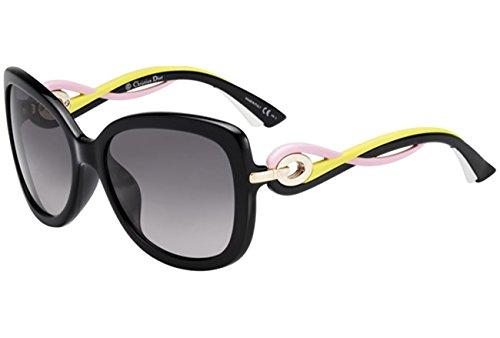 Christian Dior Sunglasses TWISTING JXGEU Black Pink Yellow White Frame Grey - White Dior Sunglasses Frame