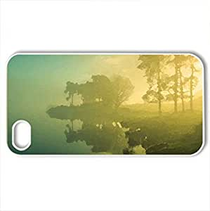 Morning glow - Case Cover for iPhone 4 and 4s (Beaches Series, Watercolor style, White)