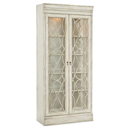 Hooker Furniture Arabella Bunching Display Cabinet in White