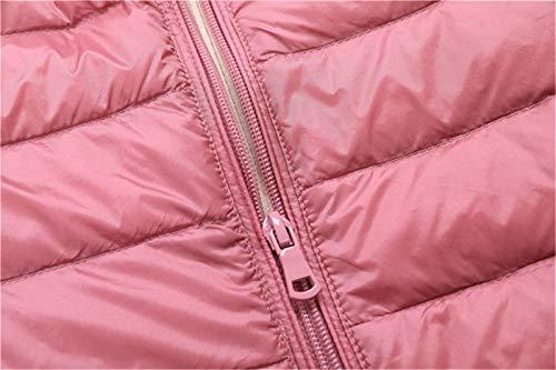 Casuale Donne Palla Senza Giacca Mengyu Ultraleggero Corpo Basamento Rosa Packable Gilet Giubbotto Imbottita Più Maniche Collare Pesce Caldi Delle Del Giù raA7rwqt8x