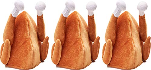 Forum Novelties 3 Turkey Hats Funny Thanksgiving Outfit Adult Halloween Costume Accessory Gift]()