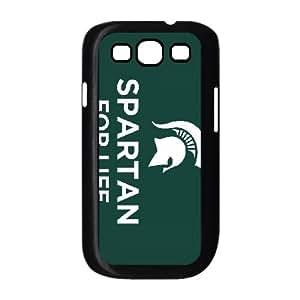 Michigan State 003 funda Samsung Galaxy S3 9300 Negro de la cubierta del teléfono celular de la cubierta del caso funda EOKXLKNBC26675
