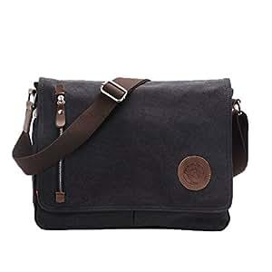 Egoelife Vintage Canvas Satchel Messenger Shoulder Crossbody Sling Bag for Business Daily School