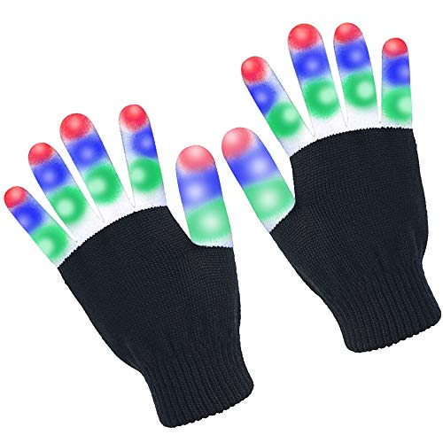 KSPOWWIN Flashing LED Warm Gloves with Lights for
