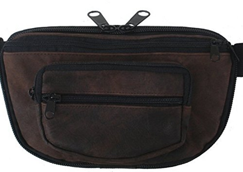 - MEDIUM - Concealed Carry Fanny Pack RUGGED ULTRA-SOFT SUEDE LEATHER-Brown