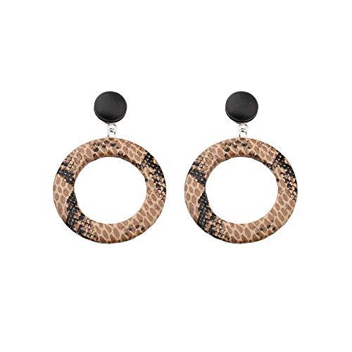 rings Unique Hoop Geometric Circle Big Earrings Stud Dangle Earrings for Women Girls (Snake Earrings 1) ()