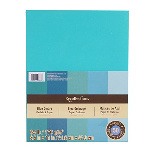 Recollections Cardstock Paper, Blue Ombre 8 1/2 x 11 ()