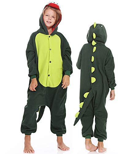 Kids Dinosaur Onesies Pajamas Animal Halloween Costume Cosplay Sleepwear for Boys