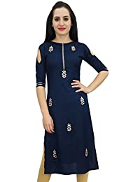 Bimba Women's Tunic Embroidery Designer Kurti Indian Festive Kurta