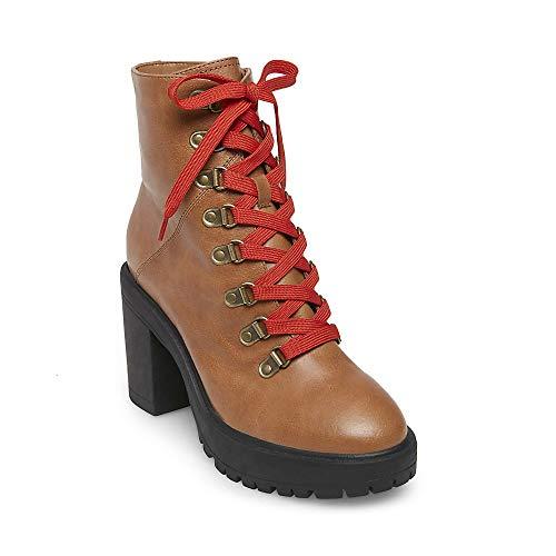 Steve Madden Women's Royce Fashion Boot, Cognac Leather, 9 M US