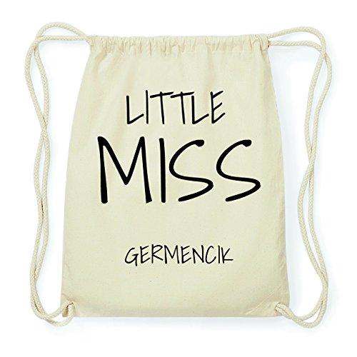JOllify GERMENCIK Hipster Turnbeutel Tasche Rucksack aus Baumwolle - Farbe: natur Design: Little Miss