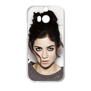 Laura Welsh 003 funda HTC One M8 caja funda del teléfono celular del teléfono celular blanco cubierta de la caja funda EVAXLKNBC24499
