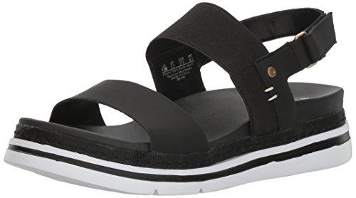 Dr. Scholl's Women's Beam Platform Sandal, Black, 8 M US