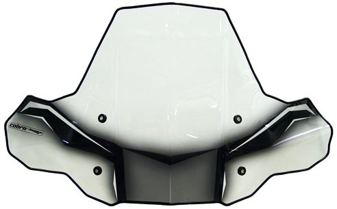 PowerMadd 24574 ProTEK Windshield for ATV - Rapid Release Mount - Clear with black -