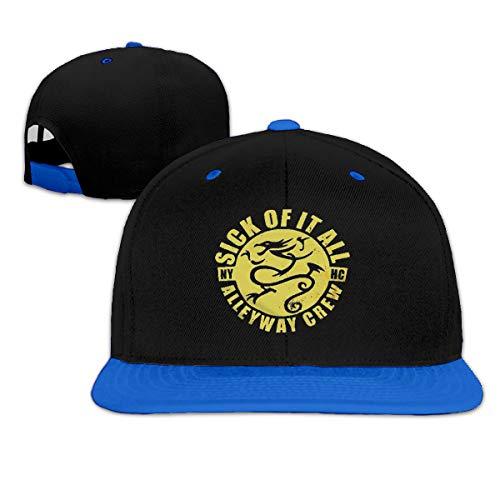 Sick Of It All Dragon - MIZS VIEASEG Sick of It All Dragon Fashion Cool Baseball Cap Funny Sports Hip Hop Hat Blue