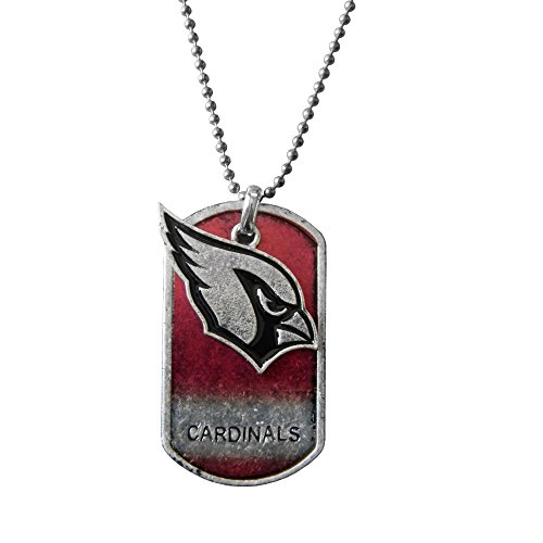 NFL Arizona Cardinals Dog Tag Charm Necklace