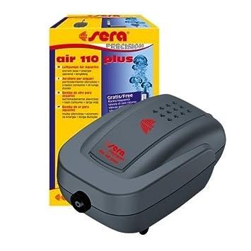 Bomba de aire para acuarios Sera Air 110 Plus - Súper silenciosa, única salida, 3 W, con tubo, porosa y con válvula: Amazon.es: Deportes y aire libre