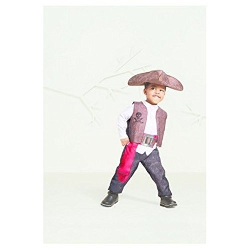 Onceuponasale Boys 2T-3T Pirate Captain Costume Halloween Jack Blackbeard Caribbean (Pirates Of The Caribbean Blackbeard Costume)