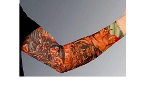 Tattoo brazo Ling de tatuaje mangas Tiger: Amazon.es: Jardín