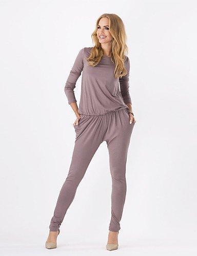 GSP-Damen Jumpsuits - Leger Langarm Baumwolle Mikro-elastisch