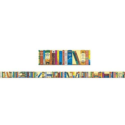 "McDonald Publishing MC-Y1520 Bookshelf of the Classics Brainy Border, Grade: 4 to 9+, 3.31"" Wide, 39.13"" Length, 1.73"" Height, 39.13"" (12 Borders per Package)"