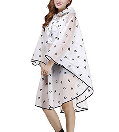 de Femme Cape Manteau Imperm EVA Portable Pluie Raincoat FqP7xwR1q