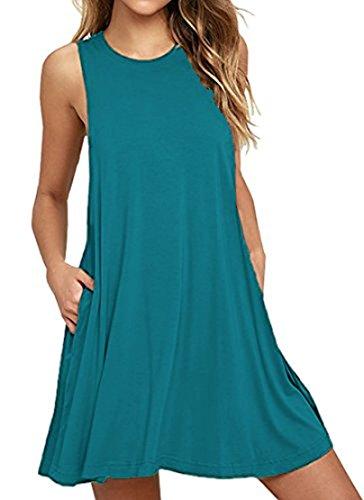 PCEAIIH Women's Long Sleeve Pocket Casual Loose T-Shirt Dress (Jersey Sundress)