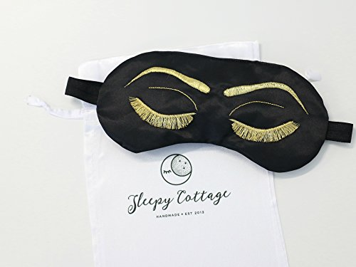 Breakfast at Tiffany's Sleep Eye Mask Inspired by Holly Golightly in Black and Gold