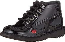 Kickers Unisex Kids Kick Hi Core Boots, Black (PATENT Black), 6 UK (39 EU)