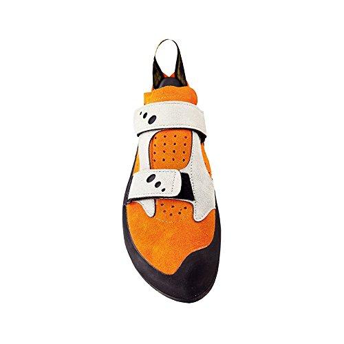 Jeckyl VS orange, Herren Kletterschuhe für Indoorklettern und Klettertouren, komfortabler Kletterschuh für Anfänger Größe 33,5 orange/grey