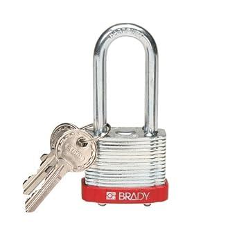Brady 99524, rojo Brady acero candado, (Pack de 10 unidades): Amazon.es: Amazon.es