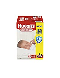 HUGGIES Snug & Dry Diapers, Size Newborn, 140 Count (Packaging May Vary) BOBEBE Online Baby Store From New York to Miami and Los Angeles