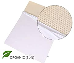Nestled Organic 100% Natural Latex Mattress Topper with Organic Cover. GOLS & GOTS Certified - Soft Firmness.