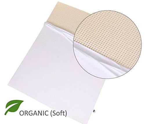 Organic 100% Natural Latex Mattress Topper - Soft Firmness - 2