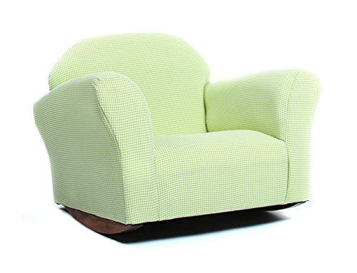 KEET Roundy Rocking Kid's Chair Gingham, Green by Keet