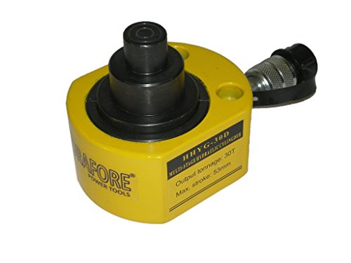 30 tons 2.12'' stroke Multi stage Low Height Hydraulic Cylinder Jack Ram YG-30D by HYDRAFORE (Image #7)