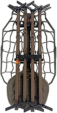 Lone Wolf Alpha Hunt Ready Treestand System, Climbing Sticks, Quiver, Leveling Function, Mobile Hunting, Outdo