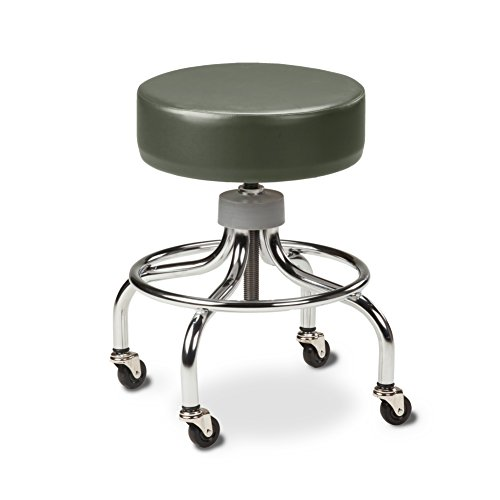 Chrome Base Stool with round foot ring-Gunmetal