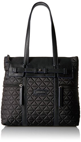 Nautica Swashbuckler Quilted Nylon Tote, Black -