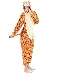 I'MQueen Unisex Tigger Onesie Adult Pajamas Flannel Cosplay Costumes Homewear