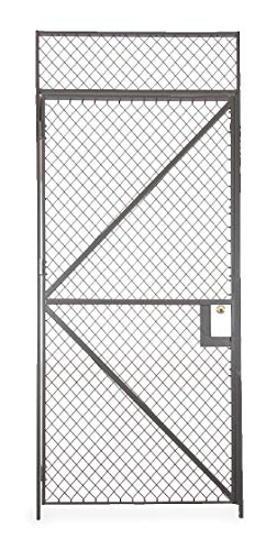 Folding Guard Powder Coated Wire Partition Hinged Door, 1 EA - HS7 410R CYL
