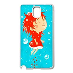 Generic for Samsung Galaxy Note 3 Cell Phone Case White Ponyo Custom HHGHJJOLA1738