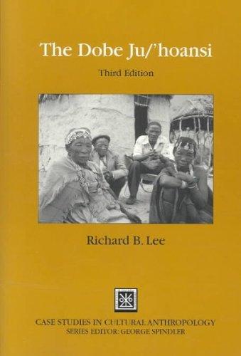 Download The Dobe Ju/'Hoansi[ THE DOBE JU/'HOANSI ] by Lee, Richard B. (Author) Feb-04-02[ Paperback ] pdf