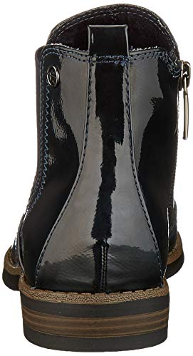Tamaris Damen 1-1-25313-23 Chelsea Boots, Blau (Navy Patent 826), 38 EU 3