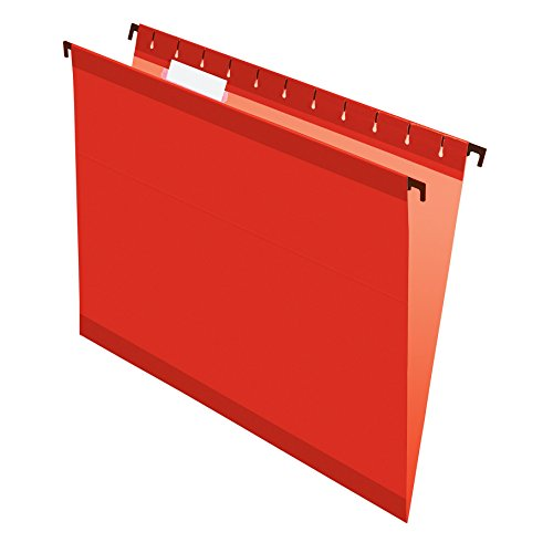 Pendaflex SureHook Reinforced Hanging Folders, Letter Size, Red, 20 per Box (6152 1/5 RED) by Pendaflex